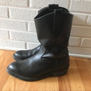 Red Wing Western Leather Cowboy Boots 10 D Black